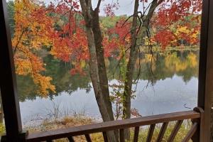 Studio Cottage Balcony on Pine Lake