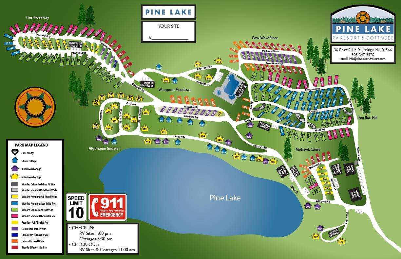 Pine Lake RV Layout